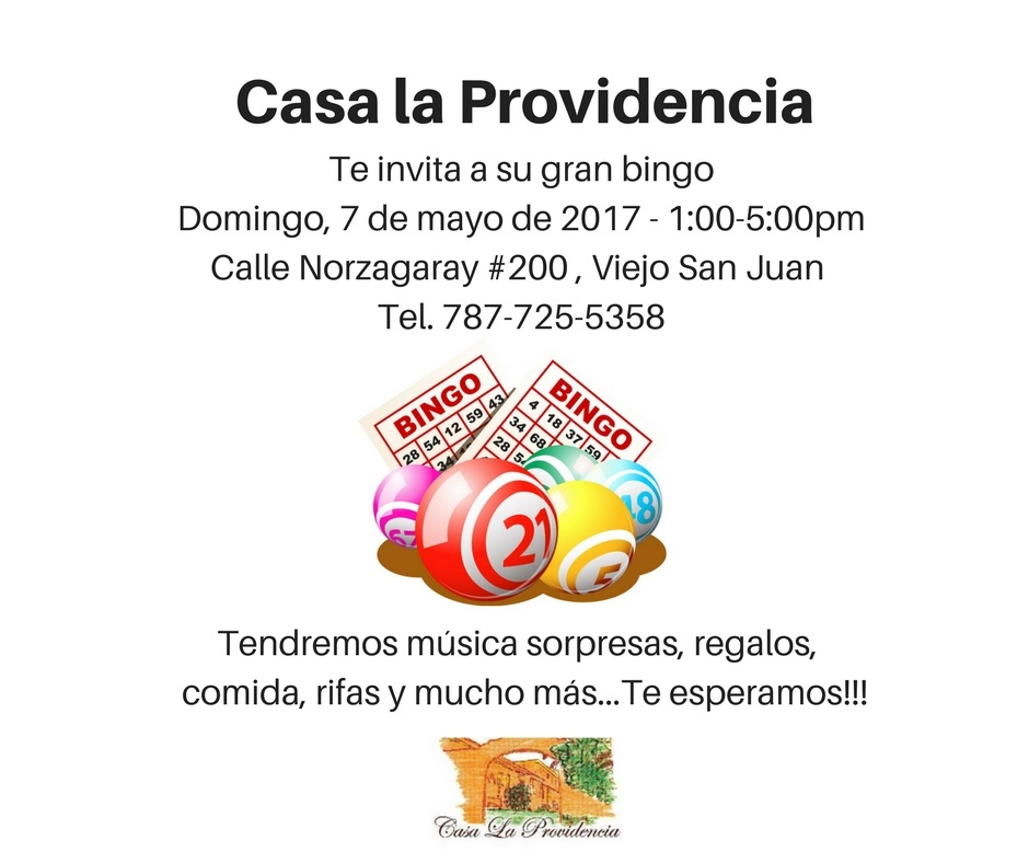 Casa la Providencia bingo